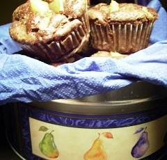 Muffin cioccolato e pere