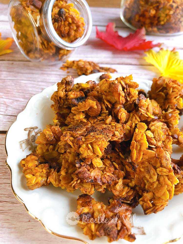 granola croccante alla zucca