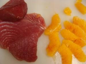 Tagliata tonno arance finocchi