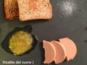 Fois gras con composta di pere