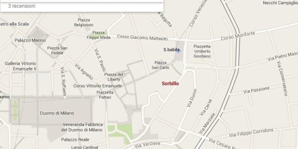 Sorbillo mappa