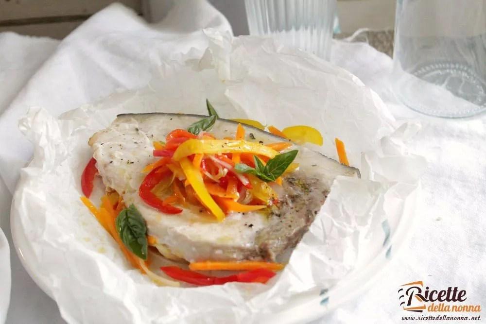 Pescespada al cartoccio con verdure  Ricette della Nonna