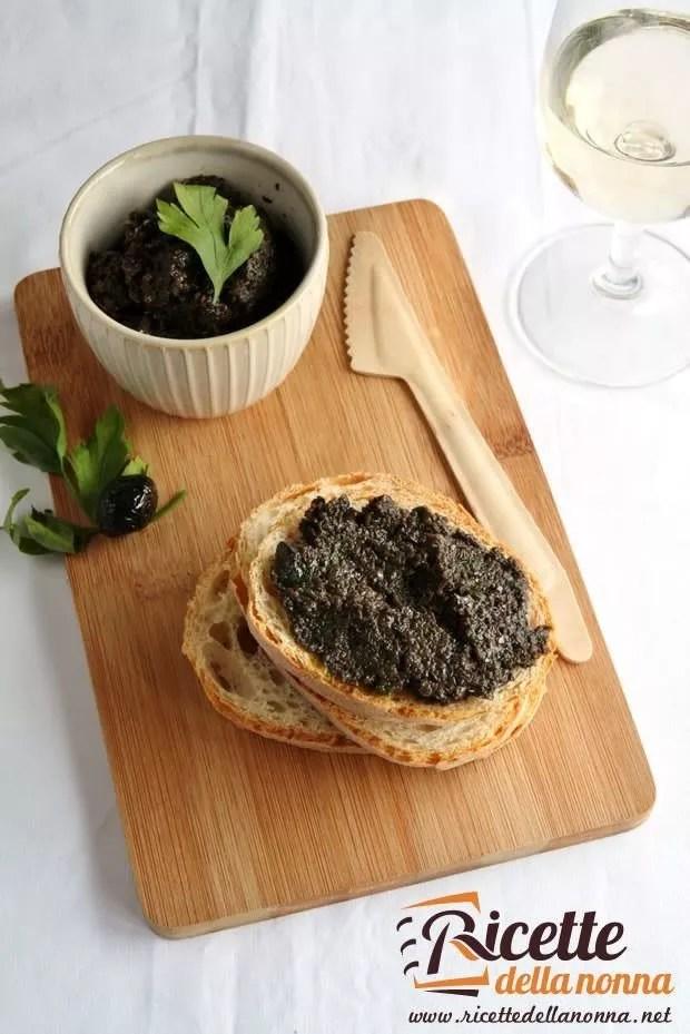 Bruschetta alla crema di olive  Ricette della Nonna