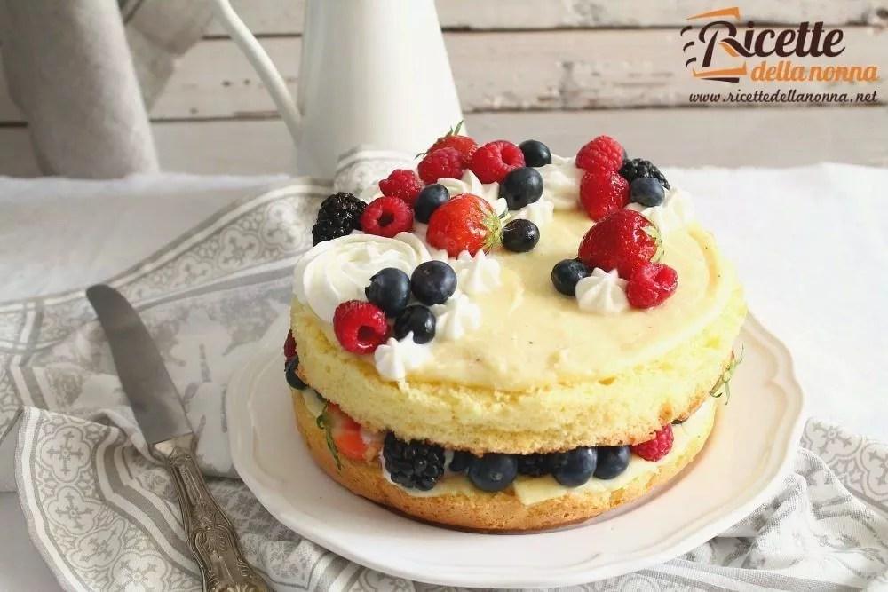 Torta bianca con crema pasticcera e crema al burro  Ricette della Nonna