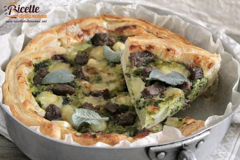 Torta salata con verza e mozzarella  Ricette della Nonna