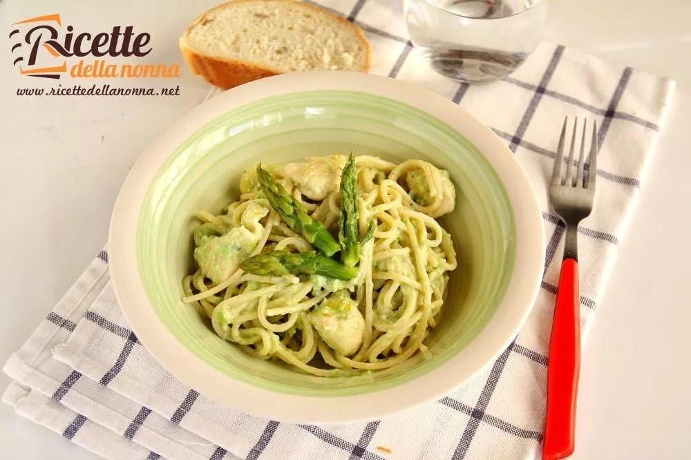 Pasta con crema di asparagi ricotta e piselli  Ricette della Nonna
