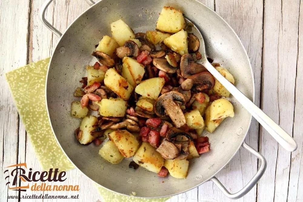 Patate e funghi in padella  Ricette della Nonna