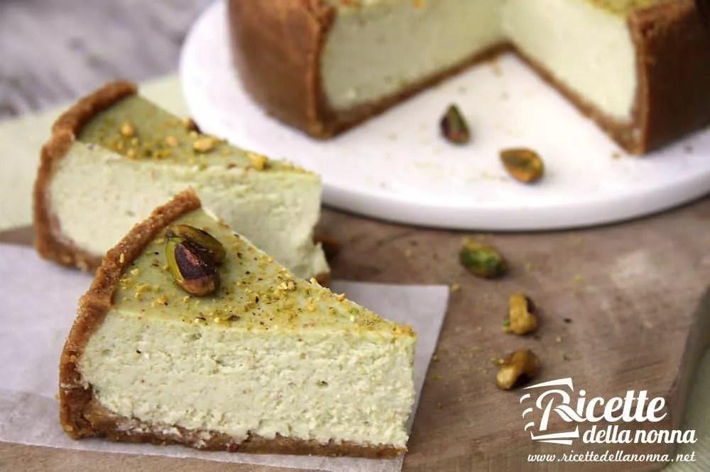 Cheesecake al pistacchio  Ricette della Nonna