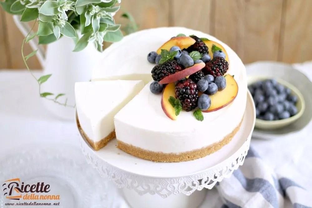 Cheesecake senza cottura allo yogurt  Ricette della Nonna