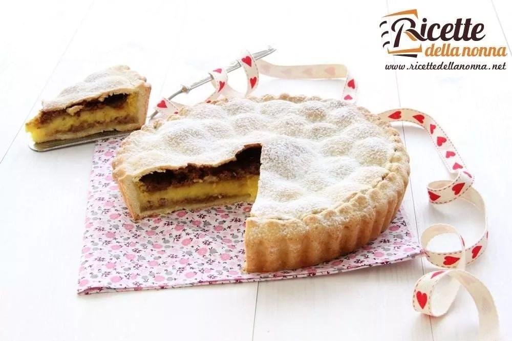 Crostata con crema e amaretti  Ricette della Nonna