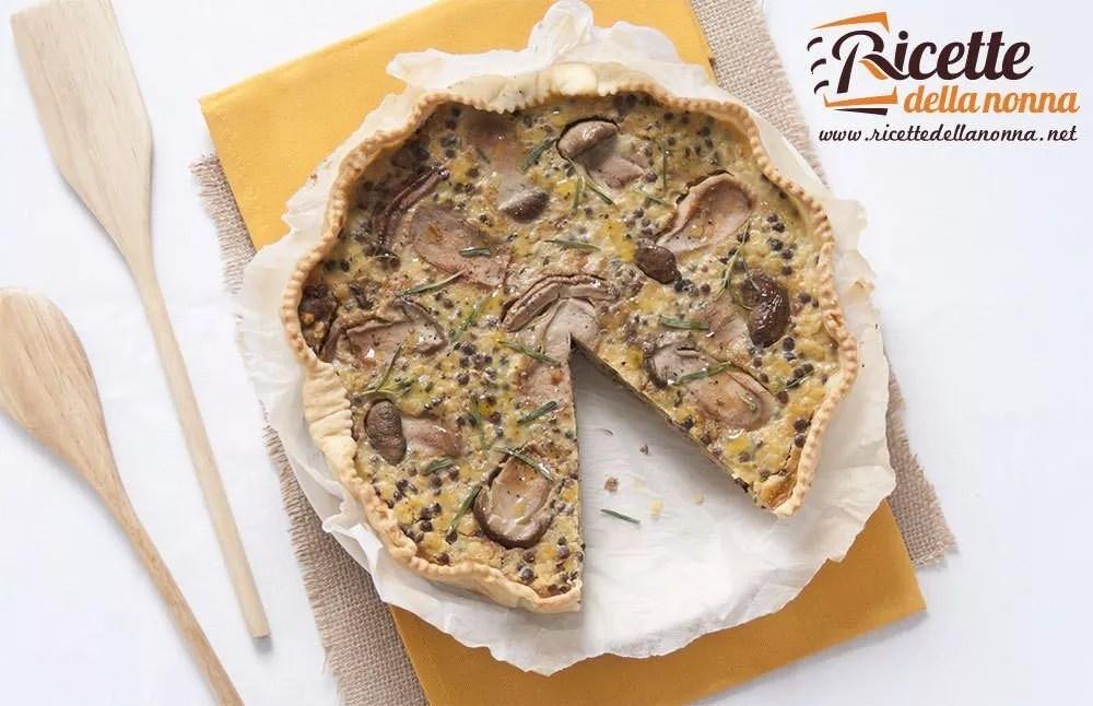 Torta salata di lenticchie e funghi porcini  Ricette della Nonna