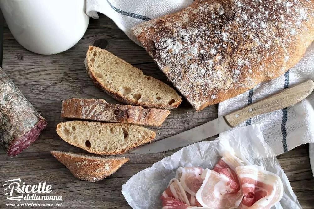 Pane tipo ciabatta fatto in casa  Ricette della Nonna