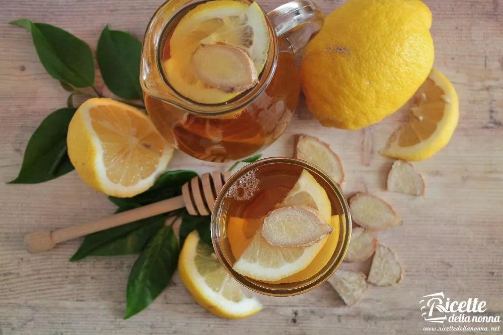Infuso zenzero limone e miele  Ricette della Nonna