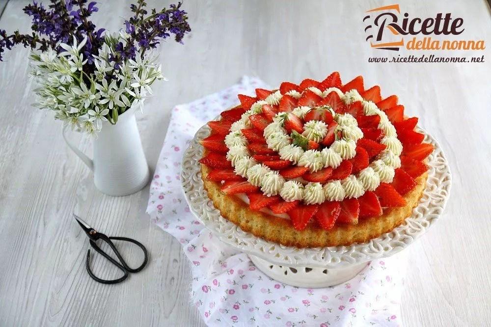 Torta con crema al lime e fragole  Ricette della Nonna