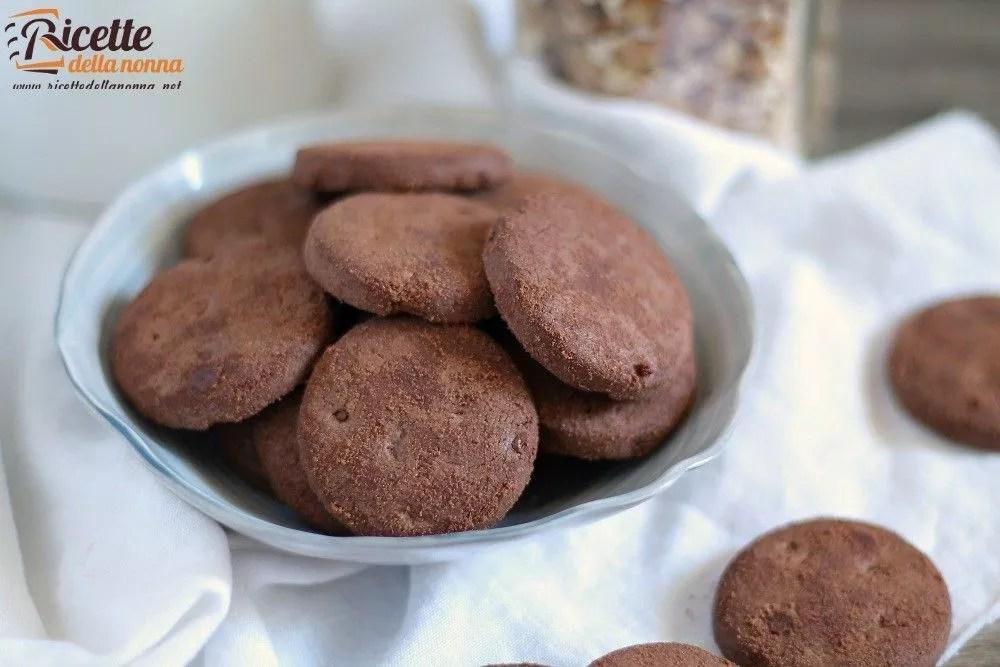 Biscotti al cacao  Ricette della Nonna