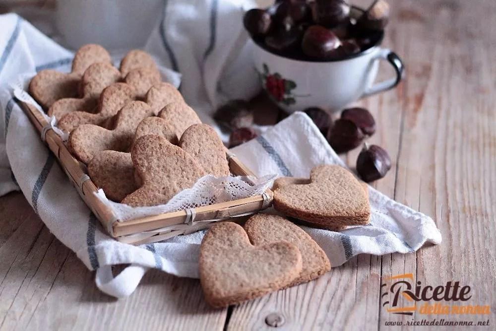 Biscotti alla farina di castagne  Ricette della Nonna