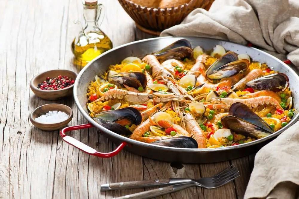 Paella con carne e pesce ricetta originale della paella
