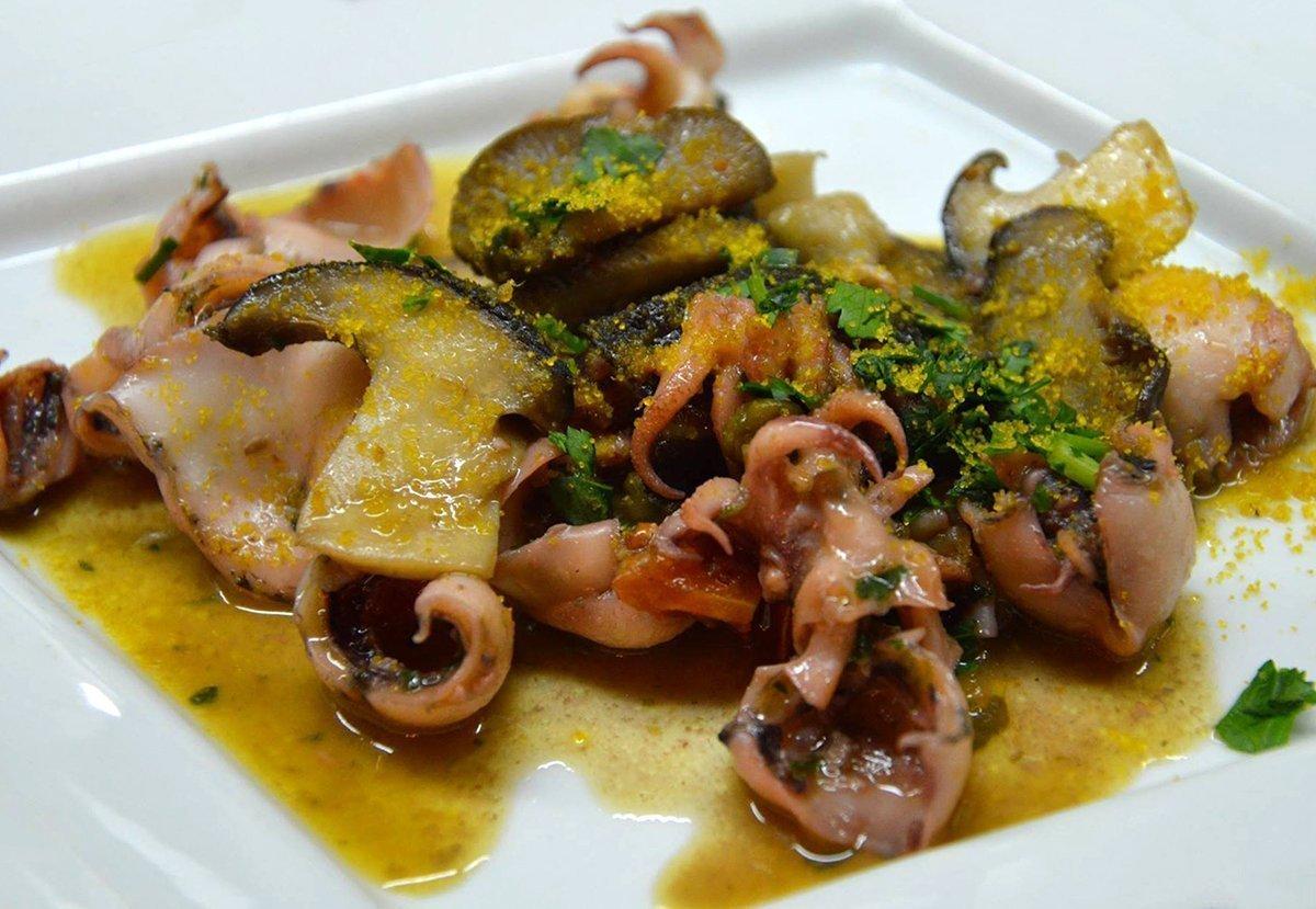 Moscardini con porcini e bottarga  Ricette di Sardegna