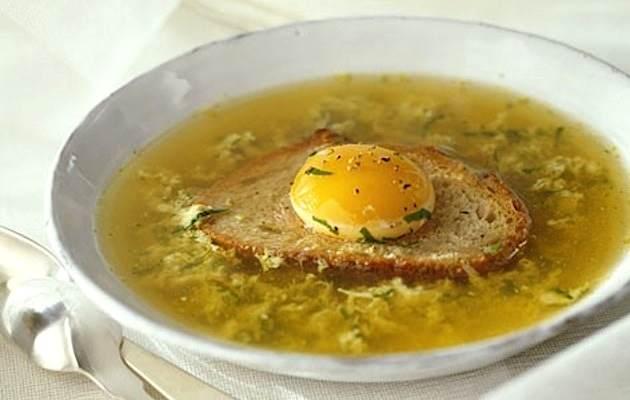 Zuppa con pane e uova  Ricette in 30 minuti