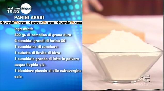 Le ricette di Samya panino arabo  Ricette in Tv