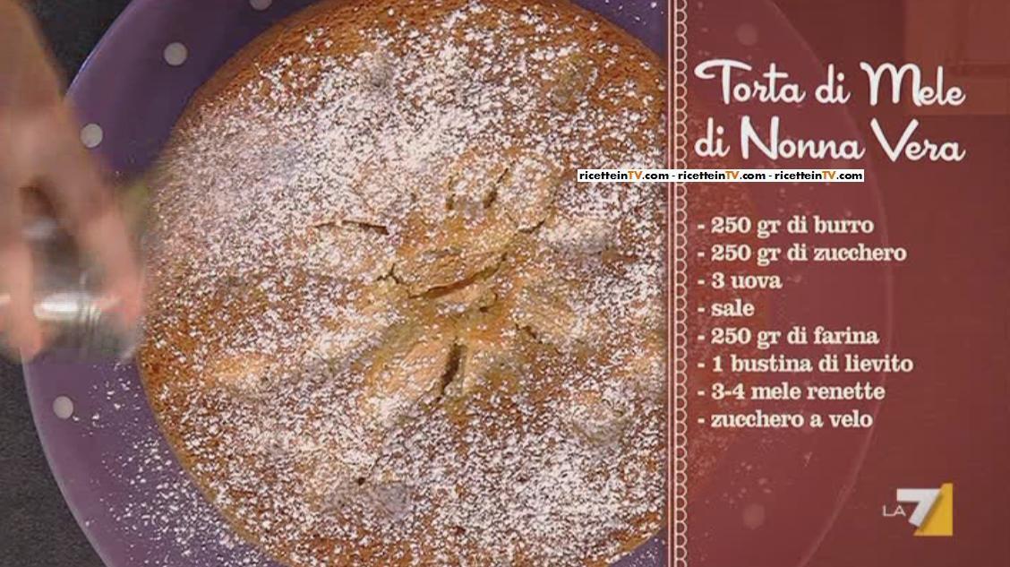 I menu di Benedetta la ricetta della torta di mele di Nonna Vera  Ricette in Tv