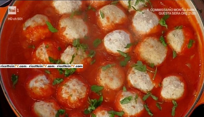 La prova del cuoco  Ricetta polpette di ricotta al sugo