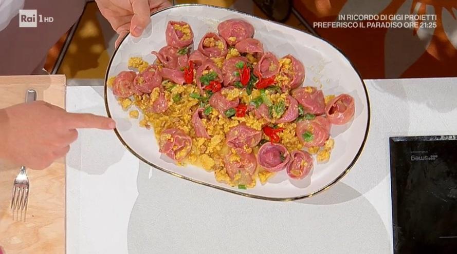 tortelloni rossi con zafferano e pollo piccante di Daniele Persegani