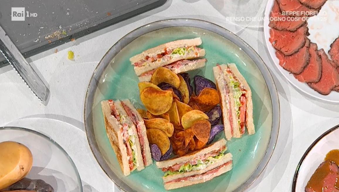 club sandwich al roast beef di Gian Piero Fava