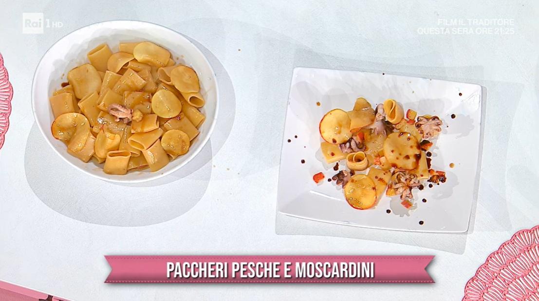 paccheri pesche e moscardini di Ivano Ricchebono