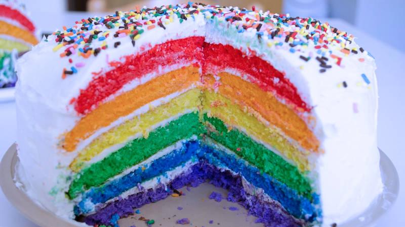 Torta arcobaleno  Ricette Bimby