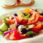 Insalata greca vegetale (con tofu) | Vegan greek salad