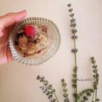 Tortine ai semi di chia con nocciole e frutti di bosco | Chia seeds, hazelnut butter and wild berries mini cakes (vegan)