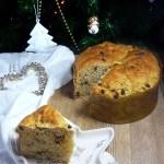 Panettone al cioccolato e bacche di goji, con lievito madre secco | Vegan chocolate & goji berries panettone cake
