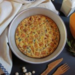 Farinata di ceci (farifrittata) alla zucca | Vegan frittata (chickpea flour)