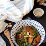 Spaghetti di konjac con arachidi e verdure al coriandolo | Shirataki noodles stir-fry with peanuts {vegan recipe}