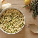Risotto agli asparagi selvatici e limone | Lemon asparagus risotto {vegan recipe}