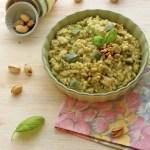 Risotto al pesto di zucchine e pistacchi | Pistachio zucchini pesto rice