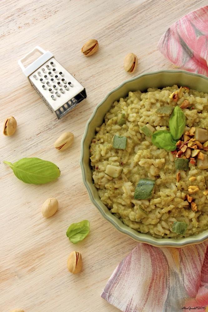 risotto-pesto-zucchine-pistacchi