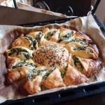 Torta girasole di ricotta (o tofu) e spinaci | Sunny spinach pie