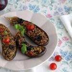 Melanzane al forno ripiene di quinoa | Baked stuffed eggplant with quinoa