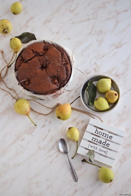 torta-vegan-pere-cioccolato-chocolate-pear-cake