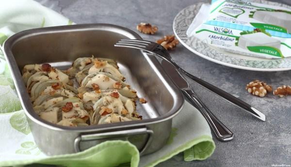 Finocchi gratinati al forno senza besciamella (light & vegan)