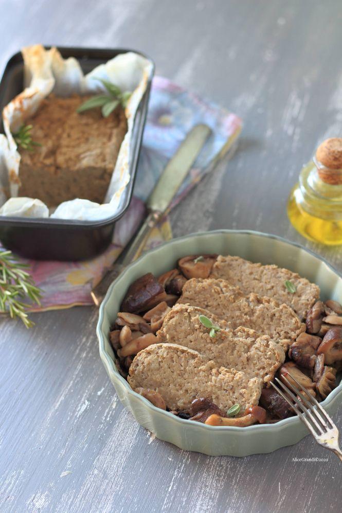 polpettone-vegano-lenticchie-funghi