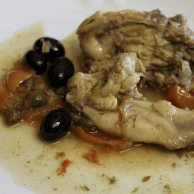 Coniglio in umido con funghi