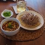Tsukemen Soba Noodle with Mushroom and Pork