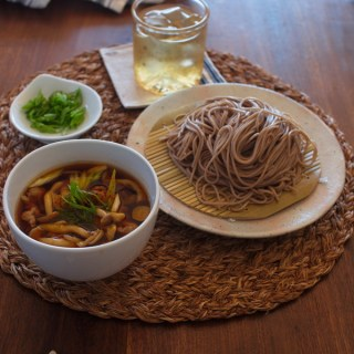 Soba Noodle with Mushroom and Pork Dipping Sauce