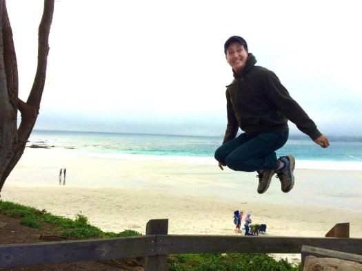 Jumping in Carmel