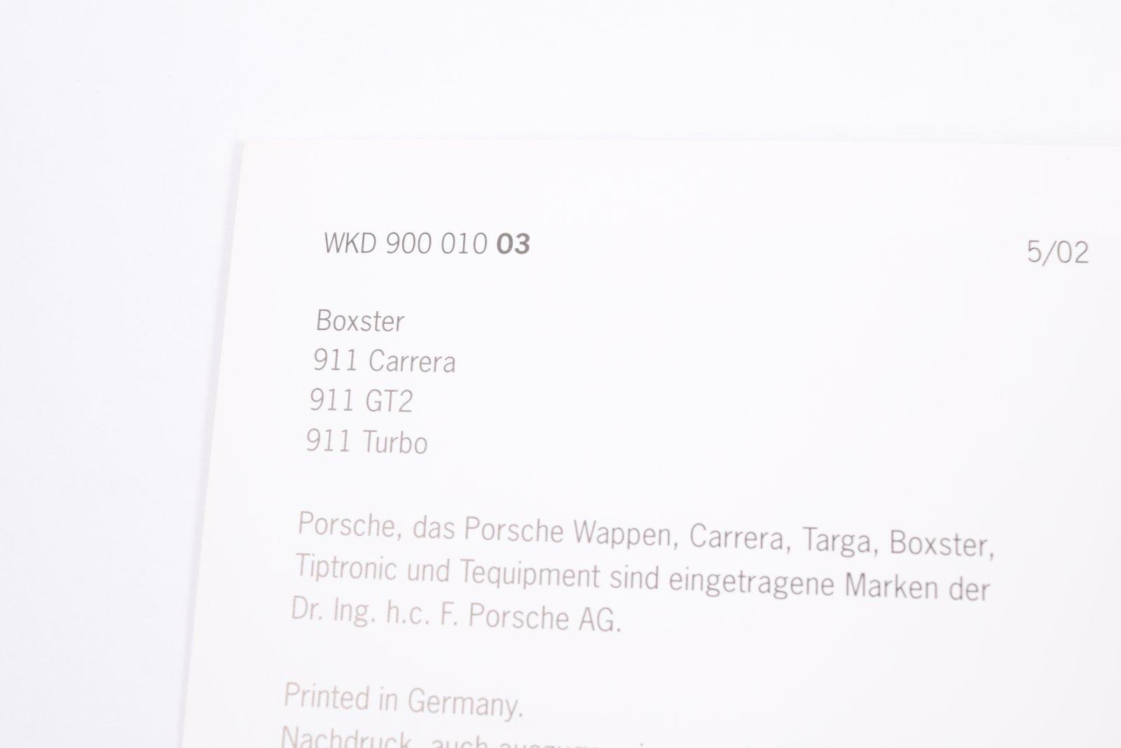 Original Porsche Garantie & Wartung Serviceheft 911