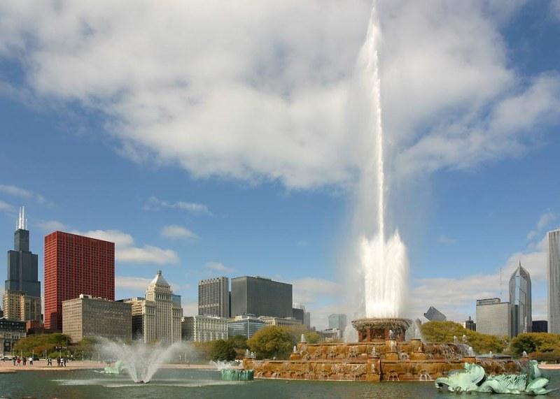 Falling Water Wallpaper Chicago Landmarks