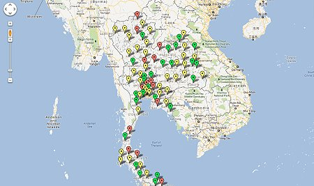 Thailand Google Map